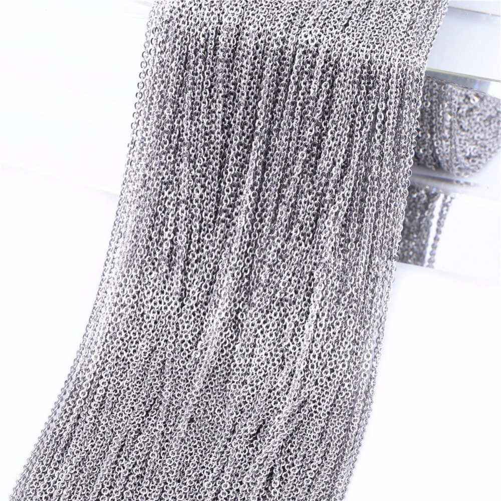 1.5/2.5/3.5/6mm DIY Jewelry  Making Super Lover 10m Stainless Steel Cable Chain Link In Bulk For Necklace Accessories