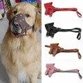 Puppy Dogs Leather Muzzle Pet Adjustable Dog Muzzle Prevent Bite Dog Mouth Mask