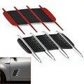 2x DIY Carro Universal Fluxo de Ar de Ventilação Fender Lado Capô Net Porta Decalques Auto Adesivo