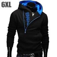 6XL Moda Marka Hoodies Erkekler Kazak Eşofman Erkek Fermuar Kapüşonlu Ceket Rahat Spor Moleton Masculino Assassins Creed