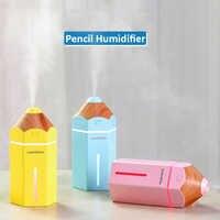 Humidificateur à crayon USB aromathérapie à ultrasons humidificateur d'air lumière LED diffuseur d'arôme brumisateur Mini voiture purificateur d'air