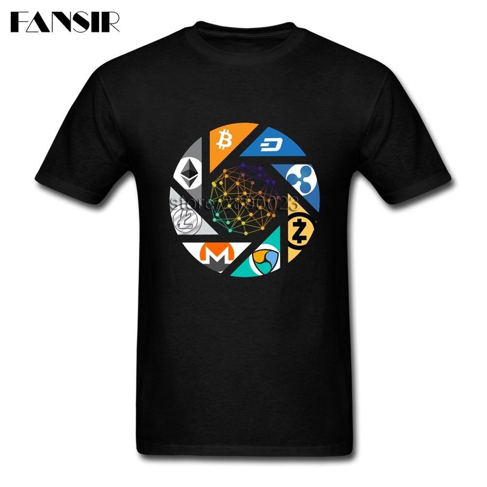 Camiseta Bitcoin Cryptocurrency hombres Litecoin Dash Zcash Ethereum Monero manga corta cuello redondo algodón hombres camiseta ropa