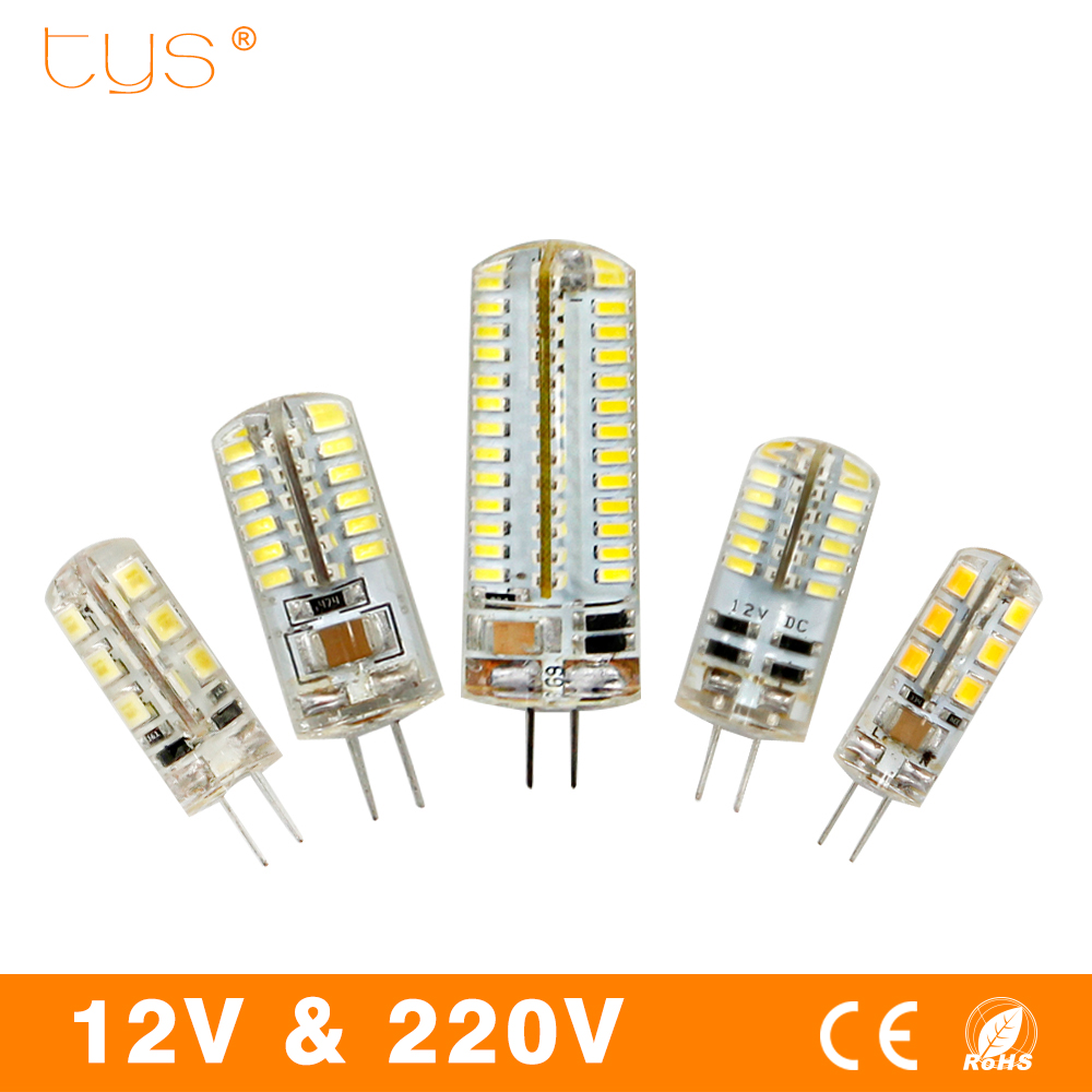 T.Y.S G4 LED Lamp 3W SMD2835 3014 DC 12V AC 220V Led Bulb G4 White/Warm White Light Bulb replace Halogen Spotlight Chandelier g24 6w 550lm 3000k 55 3014 smd led bulb warm white light bulb white silver ac 85 265v