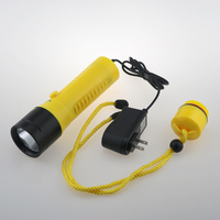 3000 Lumen Professional LED Diving Flashlight Cree XML Led 2 Mode Waterproof Scuba Diving Torch with 18650 battery and charger