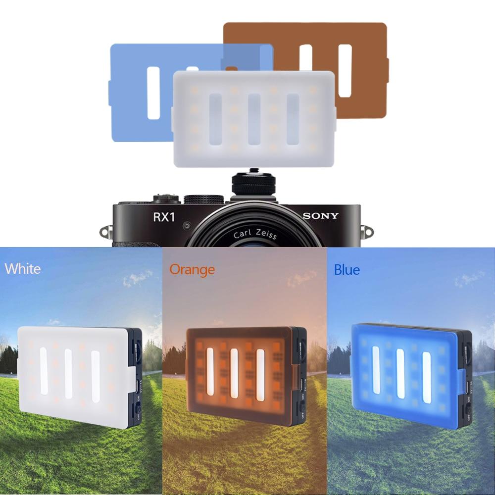 Mcoplus LED16 LED فيديو ضوء CRI 95 المدمج في - كاميرا وصور