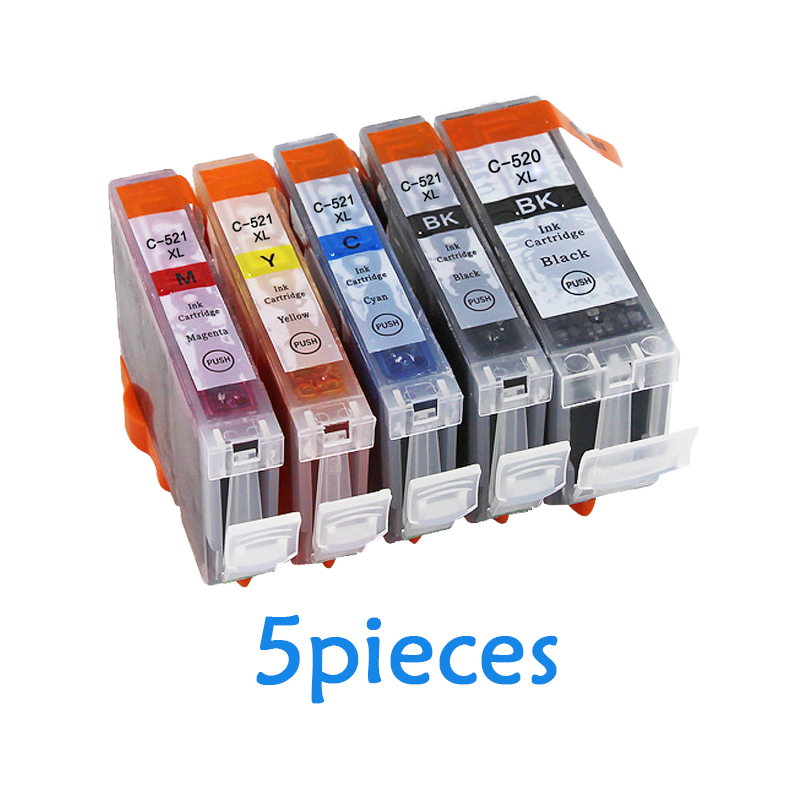 5pcs PGI-520 CLI-521 compatible Ink Cartridges for canon PIXMA IP3600 IP4600 IP4700 MX860 MX870 printer PGI520 CLI521 PGI 520 5pcs pgi 520 pgi 520 cli 521 ink cartridge for canon mp540 mp550 mp560 mp620 mp630 mp640 mp980 mp990 mx860 mx870 printer ink