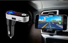 FM Transmitter Hands-free Car Kit Charger MP3 Player Dual USB for iPod iPad iPhone 6/7 HTC Sony Nexus Motorala Other Smartphones