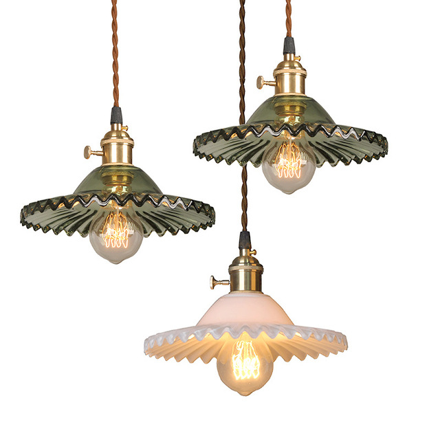 Vintage Pendant Lights Glass Lamps Kitchen Fixtures Luminaria Retro Loft Home Lighting Modern Ceiling Hanging In From