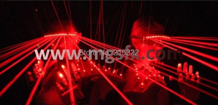 Бесплатная доставка красная лазерная очки для Laserman показывает производительность для ночного клуба
