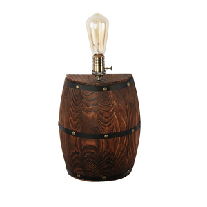 Image 4 - American vintage wall lamps country wine barrel modern wall lights LED E27 for bedroom living room restaurant kitchen aisle bar