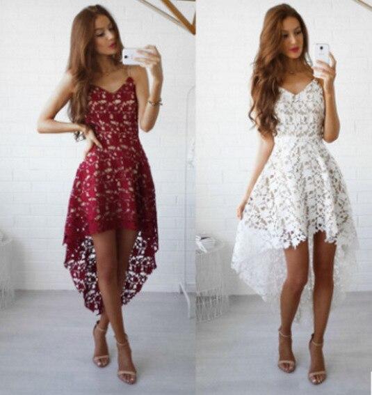 קצר שיבה הביתה שמלות 2020 אלגנטי בורגונדי קו כבוי כתף תחרה מסיבת אירוע מיוחד שמלת Robe Courte Vestido דה Festa