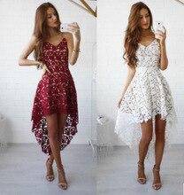 Krótkie sukienki na powrót do domu 2020 eleganckie Burgundy linia Off Shoulder Lace Party specjalna okazja suknia Robe Courte Vestido De Festa