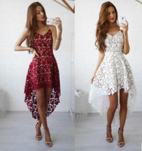 Short Homecoming Dresses 2020 Elegant Burgundy A Line Off Shoulder Lace Party Special Occasion Gown Robe Courte Vestido De Festa