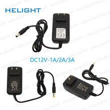 AC100-240V para dc12v 1a/2a/3a 12w/24w/36w adaptador de alimentação de comutação adaptador de alimentação conversor carregador eua/ue/au/uk plug