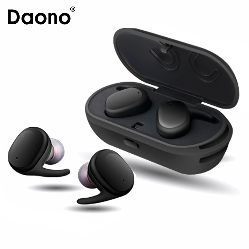 DAONO Touch Control Bluetooth Earphone TWS True Wireless Earbuds Bluetooth 4.1 Stereo Earphones with Charger Box Portable
