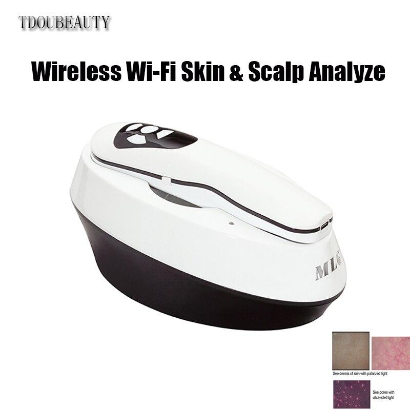 TDOUBEAUTY BM-999 technologie de charge sans fil WI-FI sans fil peau et cuir chevelu analyseur automatique crème pour la peau pour les coupures et les brûlures (noir)