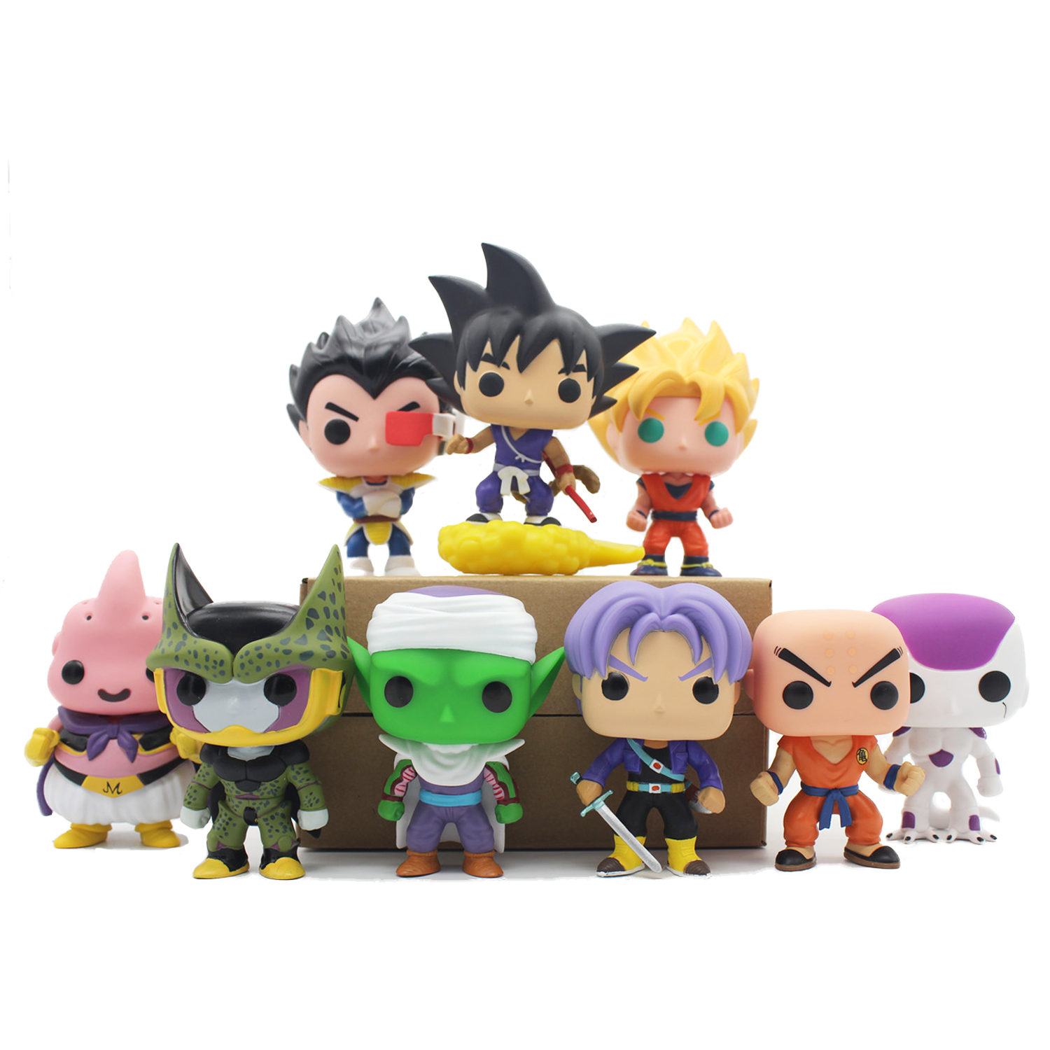 Chanycore Funko Pop Dragon Ball Anime Son Goku Piccolo Frieza Cell Vegeta Buu Krillin Vinyl Trunks Action Figure Model Toys