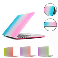 Factory Price Hot Selling Fashion Matte Rainbow Hard Protector Case For Macbook Retina 15 Inch PC