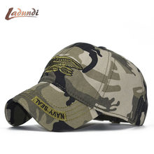 df6944e3d00 LADUNDI United States US USNS USMC Navy army Special Forces Insignia NAVY  Seal hat Eagle Trident Camo Camouflage Hat Cap Dad Hat