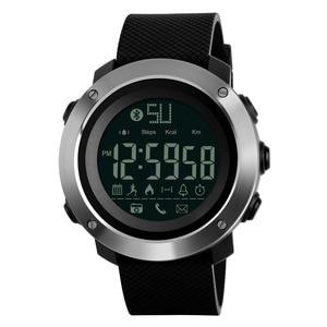 Image 1 - Skmei Fashion Bluetooth Smart Men Watches Calorie Digital Sports Pedometer LED Watch Call Reminder Waterproof Wristwatch Zegarki