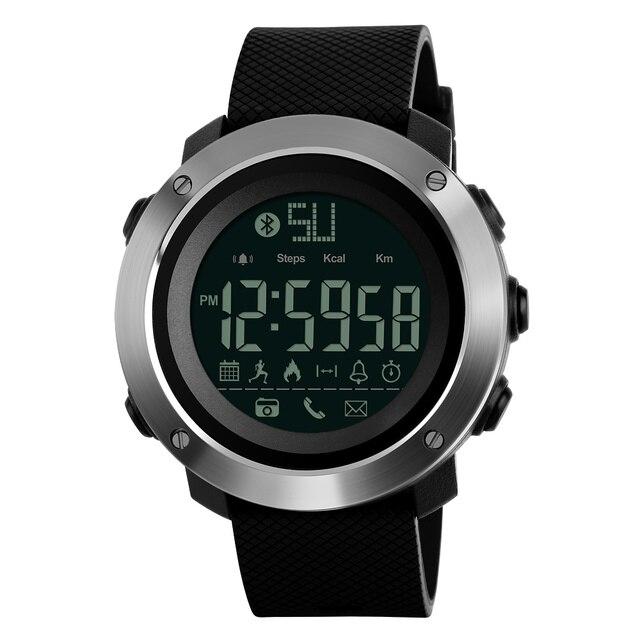 Skmei Fashion Bluetooth Smart Men Watches Calorie Digital Sports Pedometer LED Watch Call Reminder Waterproof Wristwatch Zegarki