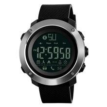 Skmei موضة بلوتوث الذكية الرجال الساعات السعرات الحرارية الرقمية الرياضة عداد الخطى LED ساعة دعوة تذكير مقاوم للماء ساعة اليد Zegarki