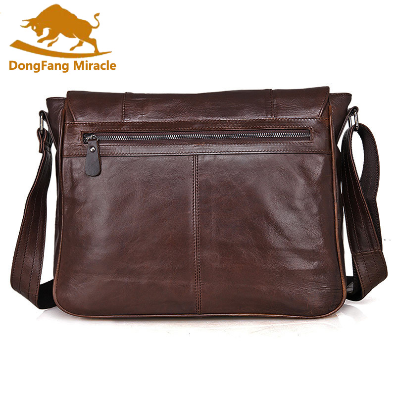New arrival genuine Leather Men Bags Men Messenger Bag vintage top Layer Leather Shoulder Bag Men's Crossbody Bag