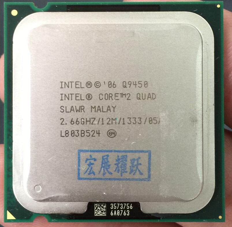 Intel Core2 Quad Processor Q9450 (12M Cache, 2.66 GHz, 1333 MHz FSB) LGA775 Desktop CPU 100% working properly Desktop Processor