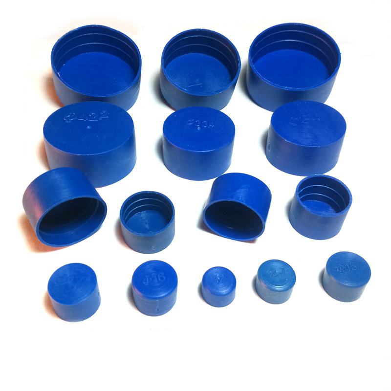 6.3-355.6mm Tube Insert End  Blue PE Plastic Pipe Outer Cover Flange Cap Thread Protector Protective Caps For Flange Joint