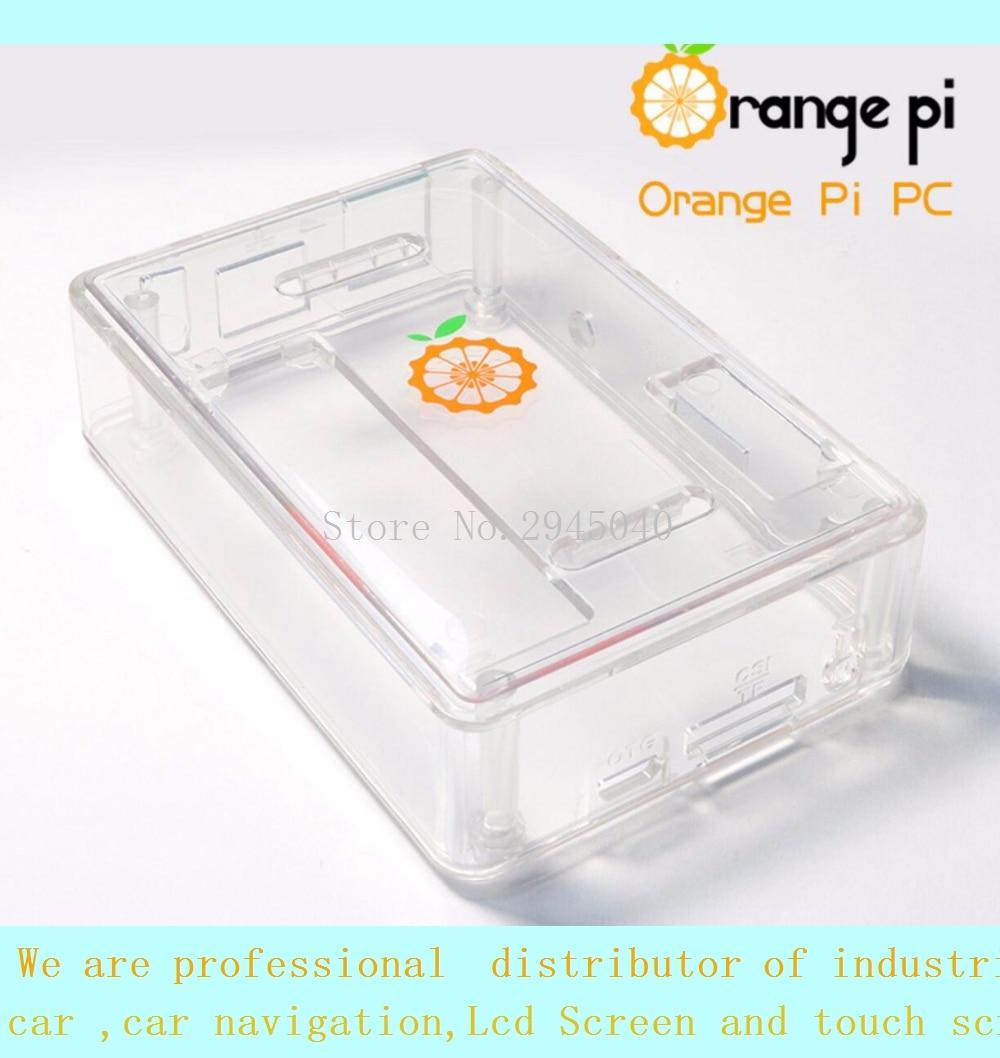Free shipping Orange PI PC/pc2 transparent protective shell box raspberries pie