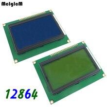 20 chiếc 12864 128x64 Chấm Bi Đồ Họa Xanh/Vàng Xanh Màu Đèn Nền MÀN HÌNH Hiển Thị LCD Module LCD12864