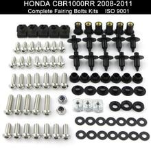 Fit For Honda CBR1000RR CBR 1000RR 2008 2009 2010 2011 Motorcycle Full Fairing Bolt Kit Bodywork Screws Stainless Steel