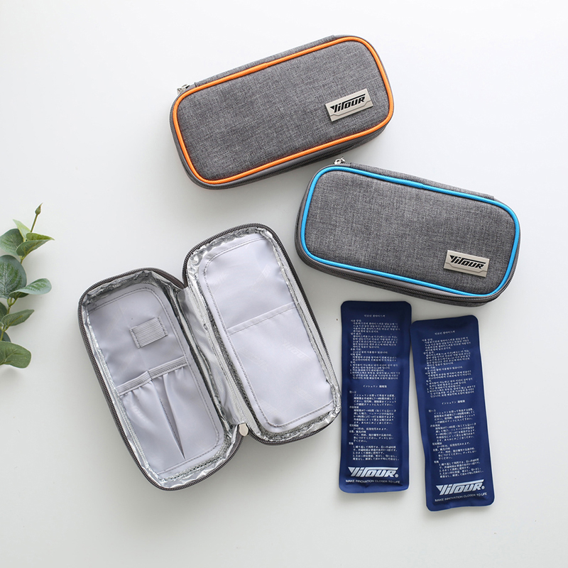 GOWINLIN Insulin Cooler Bag refrigerator Portable Medicine Insulated Bags Waterproof Oxford IceBox Aluminum Foil Icebag Pack