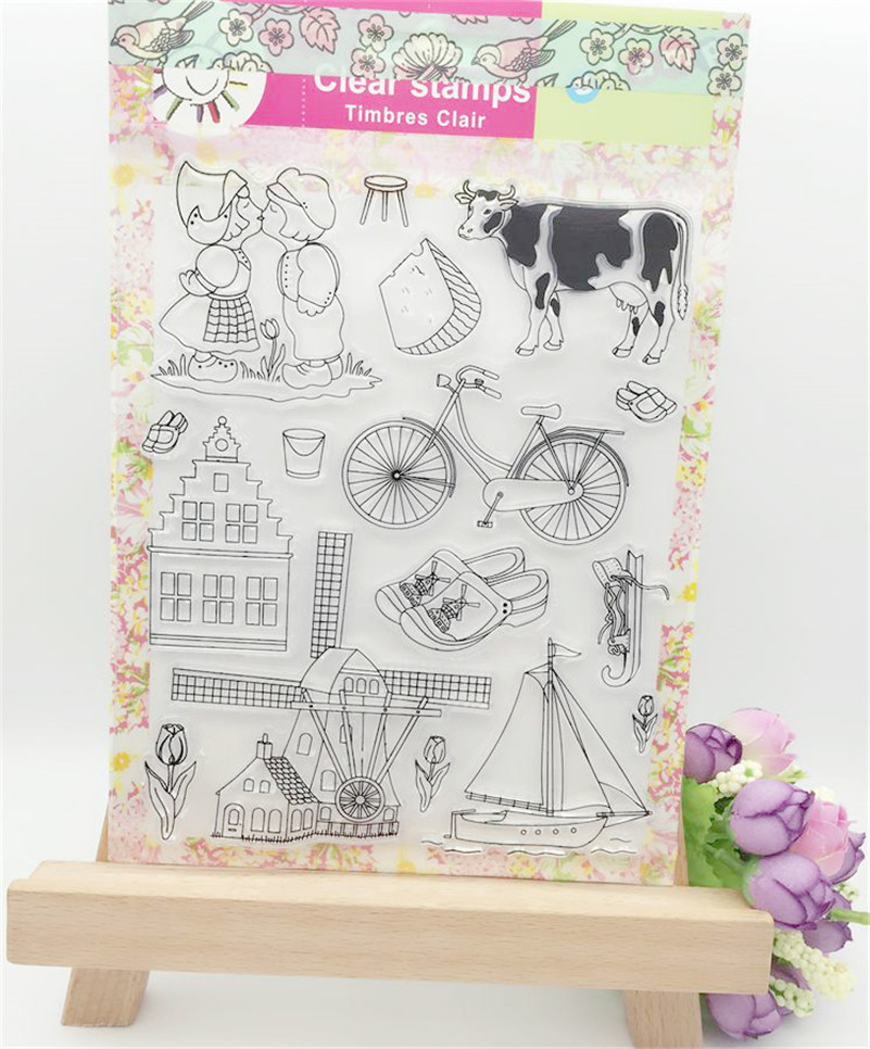 cow and bicycle FOR Scrapbook DIY photo Album paper cards clear stamp transparent stamp for christmas gift LL-238 letter phrase design scrapbook diy photo album paper cards silicone clear stamp transparent stamp for christmas gift tm 006