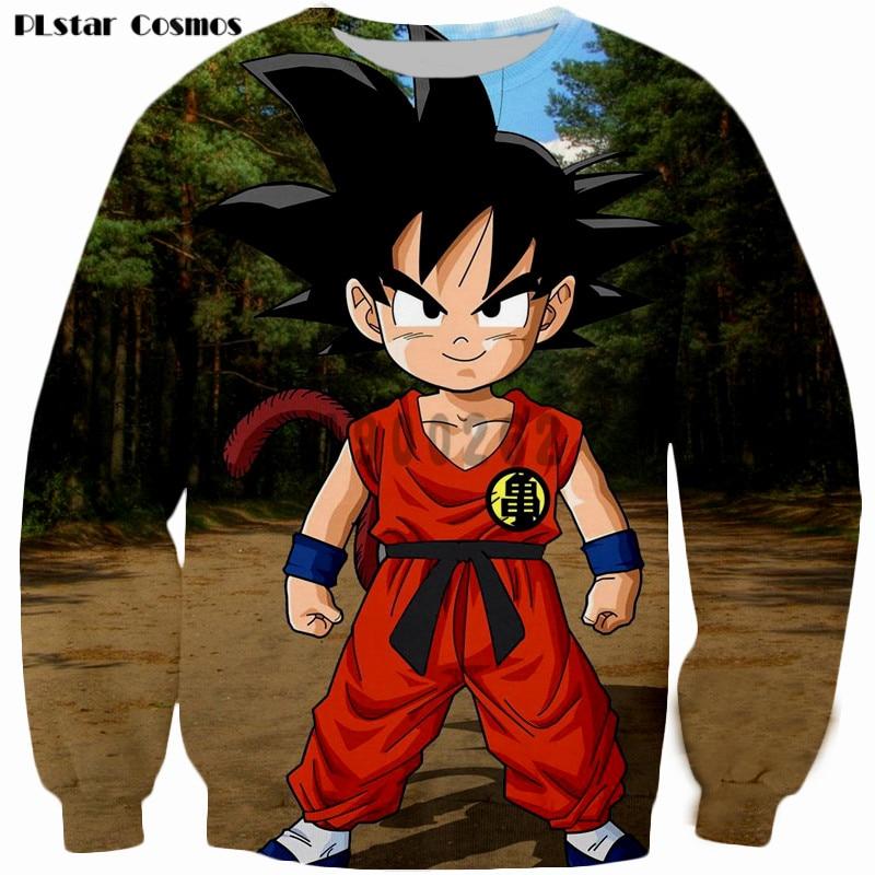PLstar Cosmos brand clothes Kid Goku Prints Sweatshirts Dragon Ball 3D Sweatshirt Men/boy Crewneck Pullovers drop shipping