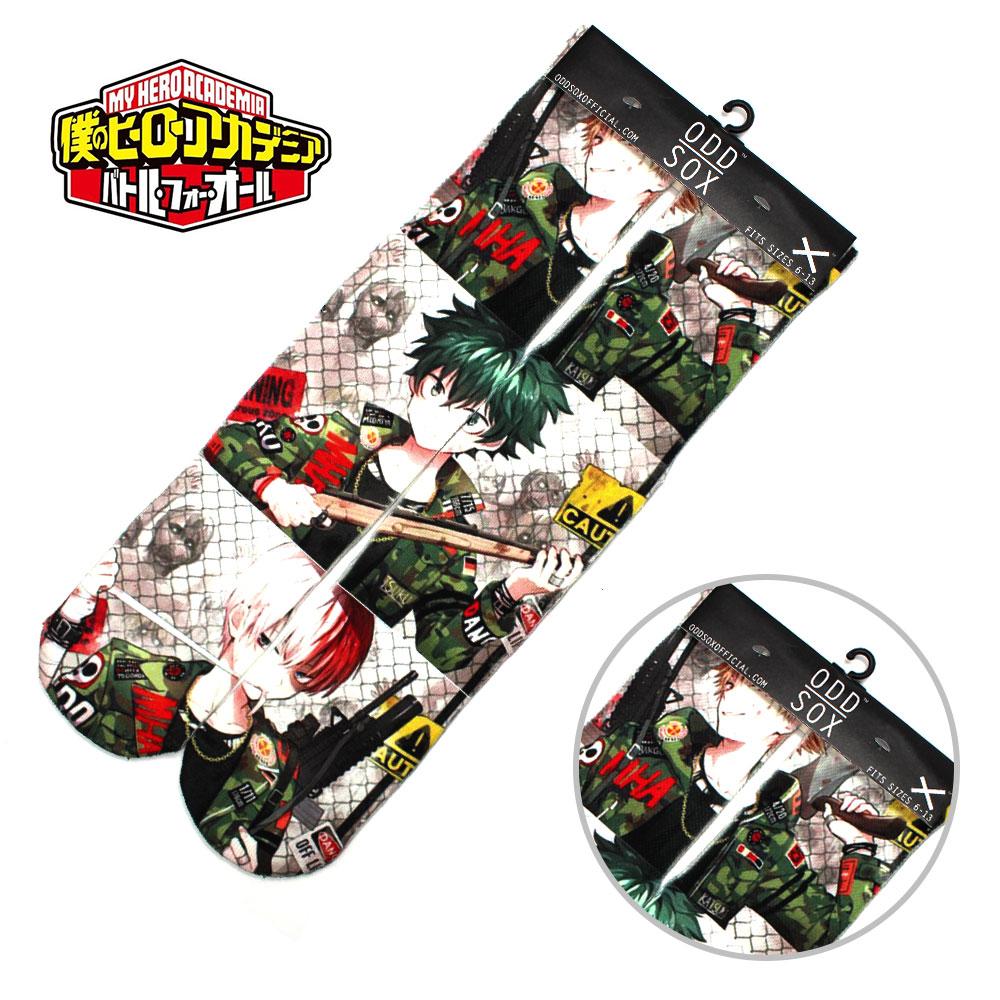 "4x16"" Anime My Hero Academia Izuku Midoriya Shoto Todoroki Cotton Socks Colorful Stockings Halloween Tights Cosplay Costume Cool"