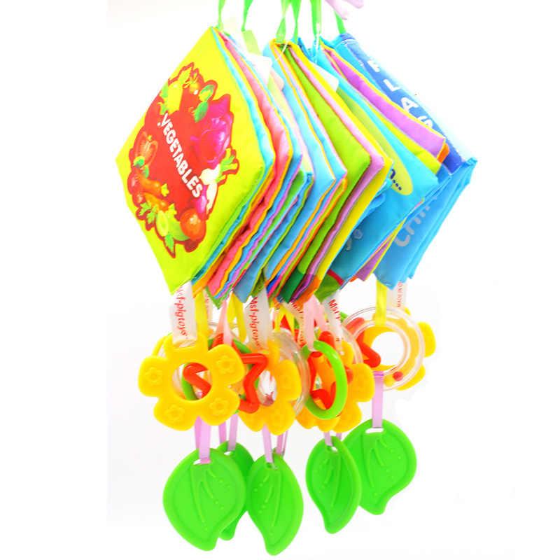 Детские погремушки детская коляска висит милый блокнот, Обложка из мягкой ткани детская кроватка висит колокола Дошкольное образование мобильных игрушки для активных игр