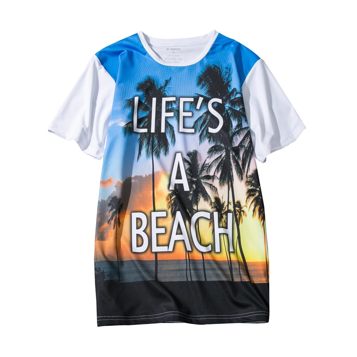 T shirt design hawaii - Hawaii Printing Hip Hop T Shirt Men 3d Street Fashion Mens T Shirts Short Sleeve