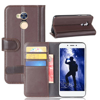 Genuine Leather Case For Huawei Honor 6A Cover Phone Cases With Card Slot Holder Stand Wallet