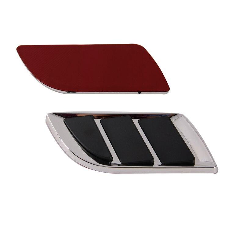 Posbay, Универсальный Автомобильный декоративный выход, Впускной воздуховод, решетка, украшение, наклейка, автомобильный воздушный поток, ложный фильтр, вентиляционные отверстия