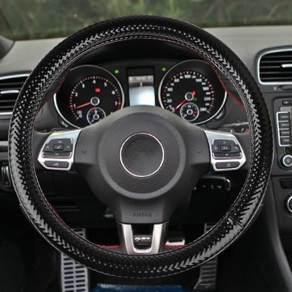 GLCC housses pour volant Micro Fiber cuir tresse sur volant protecteur haute qualité 38 cm bâche de voiture volant