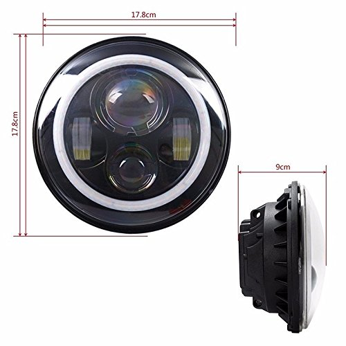 12V 30V 30W 40W 7 Inch H4 Connector motorcycle headlight ...