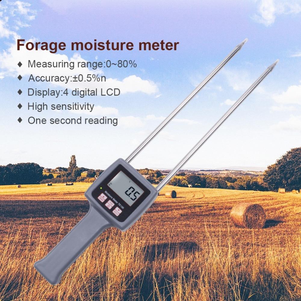 TK100 Portable Digital Multifunctional Moisture Meter For Grains Chemical Plastic Granule Soap Powder Soil tk100 portable digital multifunctional moisture meter tester