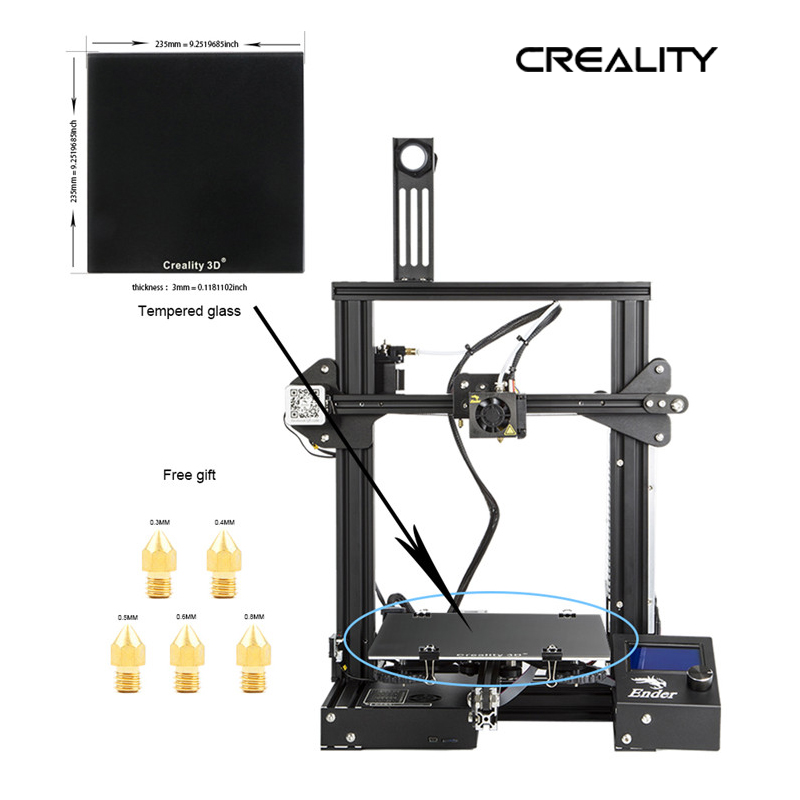 Creality 3D Ender 3X 3D Printer Kit Metal Frame Print Size 220 220 250mm Printer DIY