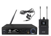 ACEMIC 100 M UHF Microfone Sem Fio In Ear Monitor System para Pro Pessoal de Monitoramento de Desempenho Sem Fio Sistema de Monitor de Ouvido