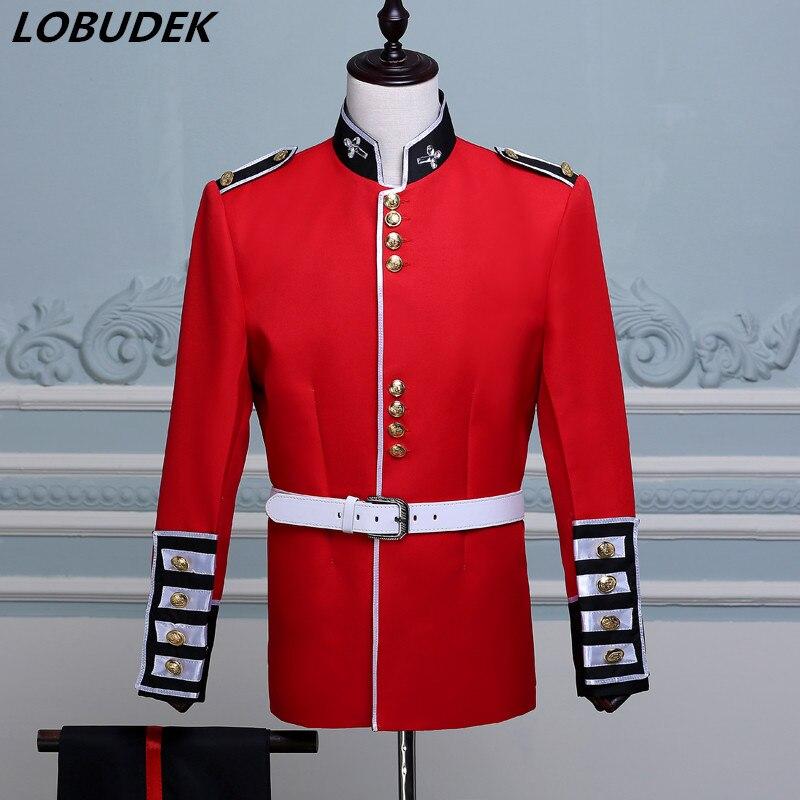 Soldat Garde veste Palais Armée Robe Royale Mâle William Rouge Prince La Beige Costume Style Ensemble Pantalon Européen OBZOWAr0