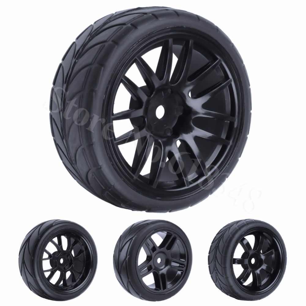 4 stuks 26mm Rubber RC Banden & Velgen Hex 12 Voor 1: 10th HSP HPI Sprint 2 Drift RS4 Op Weg Cars 4WD