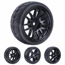 4Pcs 26mm Rubber RC Tyres & Wheel Rims Hex 12 For 1:10th HSP HPI Sprint 2 Drift RS4 On Road Cars 4WD(China)