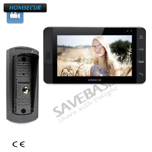 HOMSECUR 7 Video Door Phone Intercom System+Black Monitor 1C1M for House/FlatHOMSECUR 7 Video Door Phone Intercom System+Black Monitor 1C1M for House/Flat
