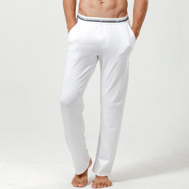 De alta calidad de los hombres pantalones de Pijama, modal + algodón + spadex, cena cómodo, envío Gratis